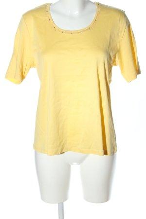Efixelle T-Shirt blassgelb Casual-Look