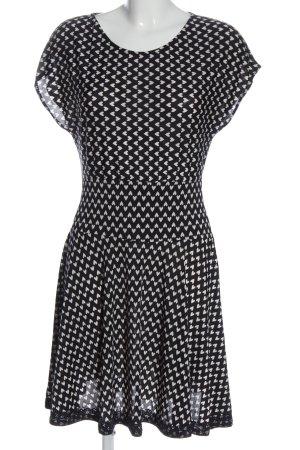 Egerie Paris Minikleid schwarz-weiß Allover-Druck Casual-Look
