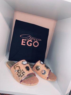 EGO Official Sandalen Glitter Rosa Gold