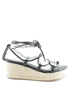 EGO Wedges Sandaletten schwarz-creme Casual-Look