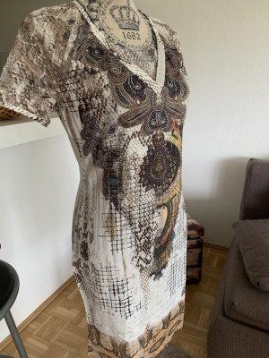 EgyptSyle Kleid - Kurzarm - Größe M 38 - White/Print - MissY!
