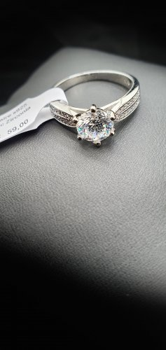 Ehering Partnerring Verlobungsring Damenring 925 Silber Hochglanzpoliert