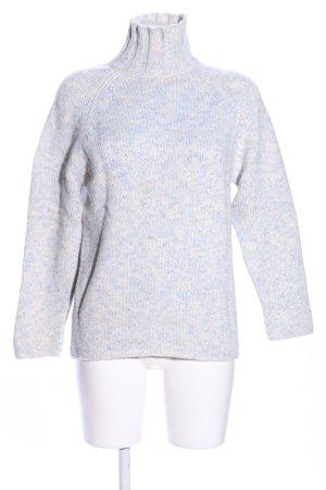 Eickhoff Rollkragenpullover blau-weiß meliert Casual-Look
