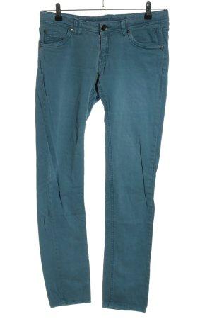 eight 2 nine High-Waist Hose blau Casual-Look