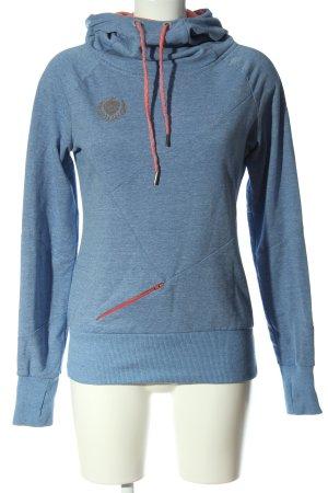 eight 2 nine Felpa con cappuccio blu-rosso puntinato stile casual