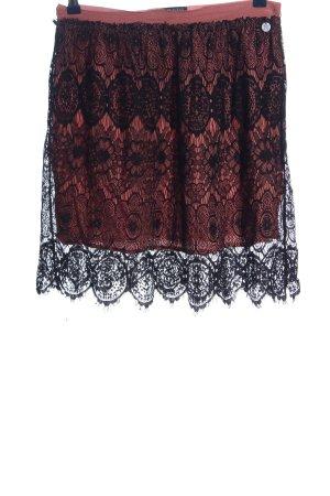 eight 2 nine Koronkowa spódnica nude-czarny Imprezowy wygląd