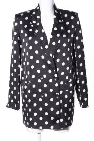 Eight Paris Long-Blazer schwarz-weiß Punktemuster Elegant