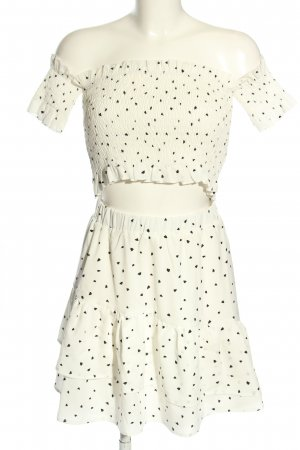 Eight Paris Woven Twin Set white-black allover print casual look