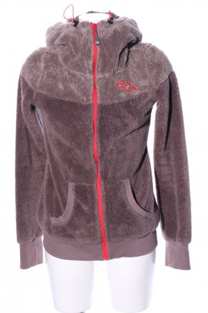 Eight2Nine Kapuzenpullover braun-rot Casual-Look