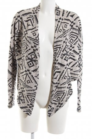 Eight2Nine Knitted Bolero light grey-black graphic pattern casual look