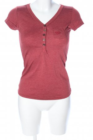 Eight2Nine V-Neck Shirt red flecked casual look