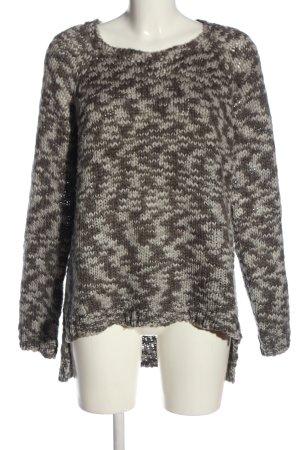 Eight2Nine Jersey trenzado marrón-gris claro look casual