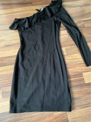 H&M Sukienka na jedno ramię czarny