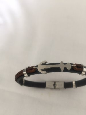 Brazalete de perlas marrón-negro-negro