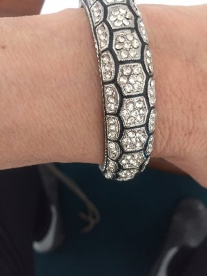 Bracelet de bras argenté-noir