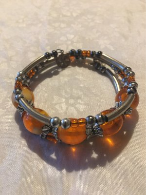 no name Bangle oranje-zilver