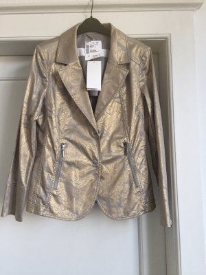 Airfield Long Blazer silver-colored-gold-colored cotton