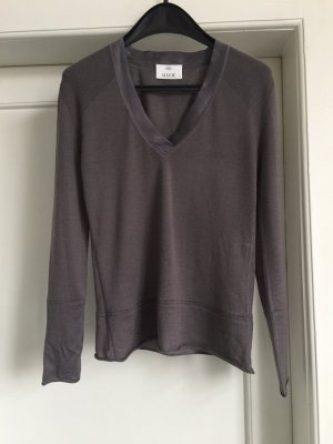 Allude V-Neck Sweater dark grey cashmere