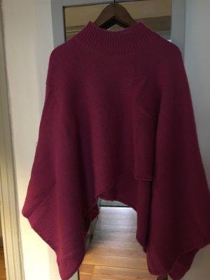 Jackpot Poncho in maglia viola