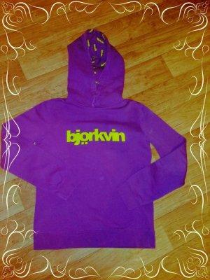 Björkvin Sweat à capuche violet coton