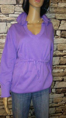 Cecil Pull à capuche violet-lilas coton