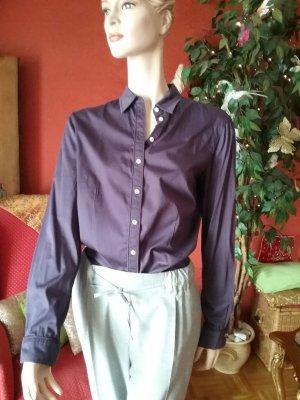 Brax Blouse-chemisier bleu violet tissu mixte