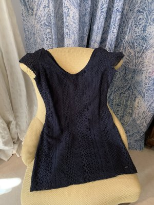 Hollister Lace Dress dark blue cotton