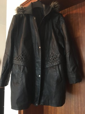 C&A Leather Coat black