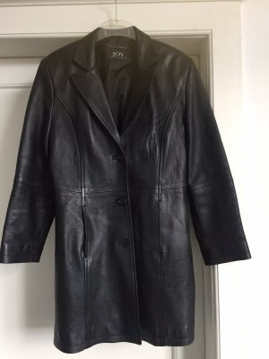 Joy Leather Coat black