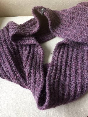Made with love Écharpe tube gris lilas