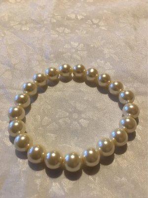 Zara Pearl Bracelet cream-white