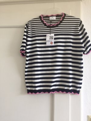 Allude Short Sleeve Sweater multicolored cotton