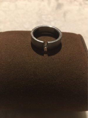H&M Zdobiony pierścionek srebrny