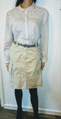 Cecil Jupe cargo beige clair-beige coton