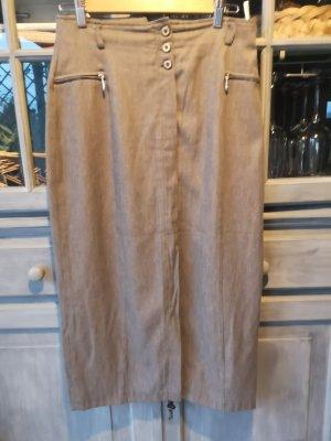 Dawn Midi Skirt grey brown