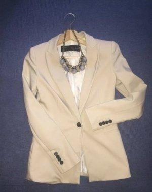 Zara Blazer de esmoquin beige claro-crema