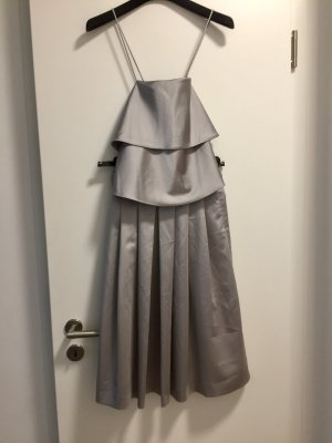 Zara Jupe à plis argenté