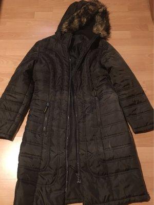 C&A Pikowany płaszcz ciemnobrązowy