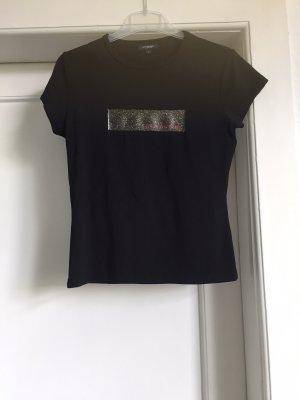 Burberry T-shirt czarny-złoto