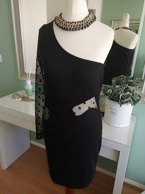 Vestido de un hombro negro Algodón