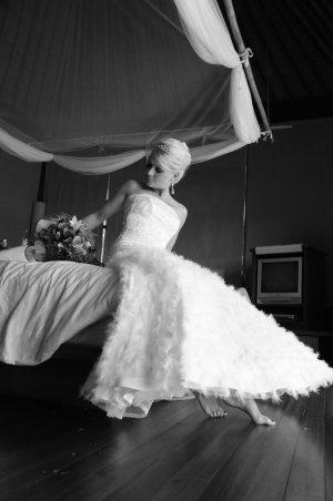 Abito da sposa bianco sporco