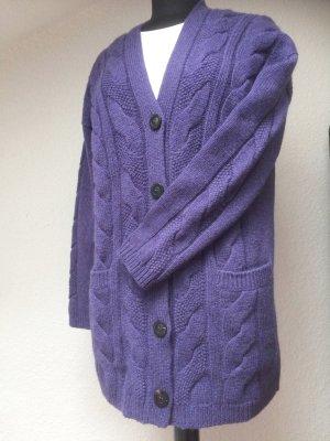 Iris von Arnim Cardigan in maglia viola-grigio-grigio ardesia Cachemire