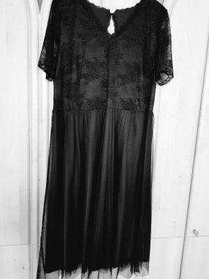 Sheego Vestido de chifón negro