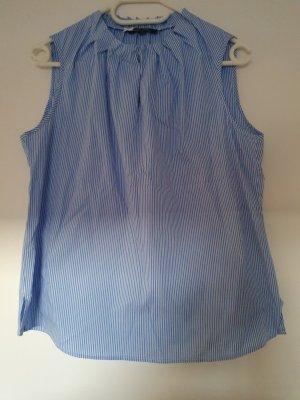 Eine ärmellose Bluse mit Stehkragen in Gr. 42 - wie NEU