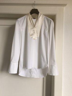 Brunello Cucinelli Tie-neck Blouse white-natural white