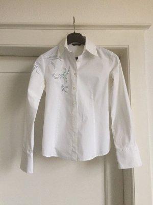 Rocco Barocco Shirt Blouse white cotton
