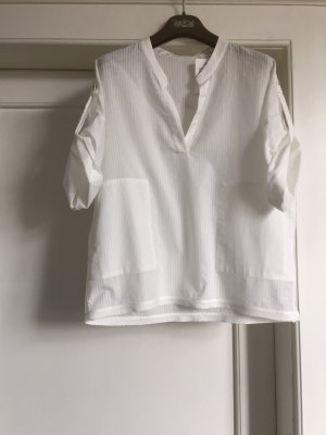 van Laack Short Sleeved Blouse white cotton