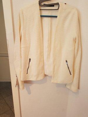 Mango Veste en laine blanc cassé