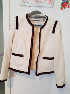 H.E. Mango Blazer in lana bianco sporco