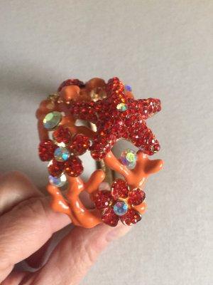 Sztywna bransoletka pomarańczowy neonowy-głęboka czerwień
